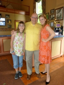 With Anna and Audrey McHale in Arrow Rock.