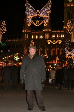 JC at Christmas market.