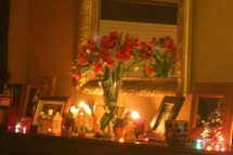 The mantel.