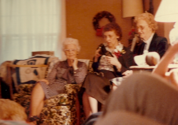 Aunt Esther, Mom, and G-ma Blocher in 1984.