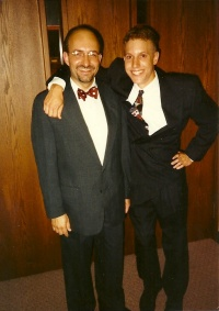 Mid 1990s, with Andy Gibb, who may now be a minister of the Gospel.