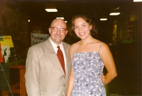 With Margaret Cardinal in 1998 or so, in Lawrence.
