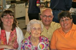 With my mother's children. We all consider Aunt Esther, here at 100, a grandmother too.