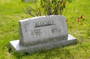 My maternal grandparents, Ruth Gutshall and Edwin Blocher. G-ma died on my 40th birthday in 2001. Poppie Blocher died in 1967 of a stroke; he was buried in my sister Karen's 6th birthday.