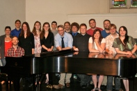 Some of Webster University's 2012 music graduates.