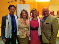 Kyle Acheson, department chair Dottie Marshall Englis, Audrey McHale, me.