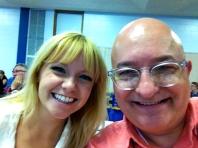 My first-day adjudicating partner, Becca Andrews.