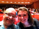 With Eden Eernissee at the opening night performance.