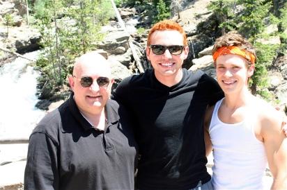 With Jordan and Kurt at Adams Falls.