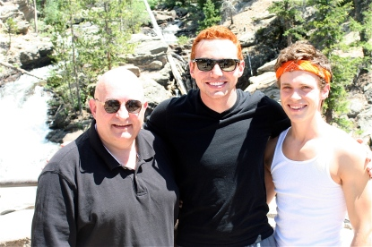 With Jordan and Kurt at Adams Falls.