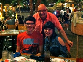 With Michael and Sarah.