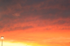 The dusk sky over Brentwood Crossing after I left Trader Joe's this evening.