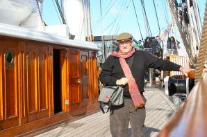 Aboard the Cutty Sark.