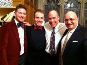 Andy, Nick, John, and me at church on Christmas Eve.