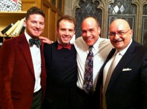 Andy, Nick, John, and me at church on Christmas Eve.