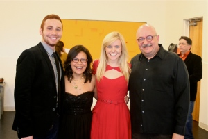 My senior student Jordan, along with Christina and Becca, at today's cabaret performance.