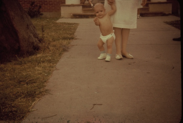 Before I could walk, my mother held my hand.  (At least I think that's my mother.)