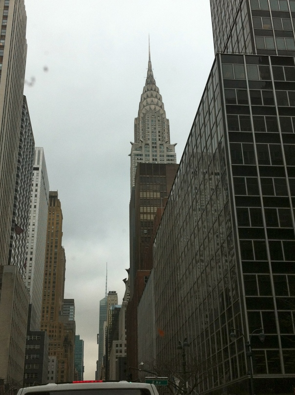Having entered Manhattan on the FDR, here's the Chrysler Building from over by the UN.