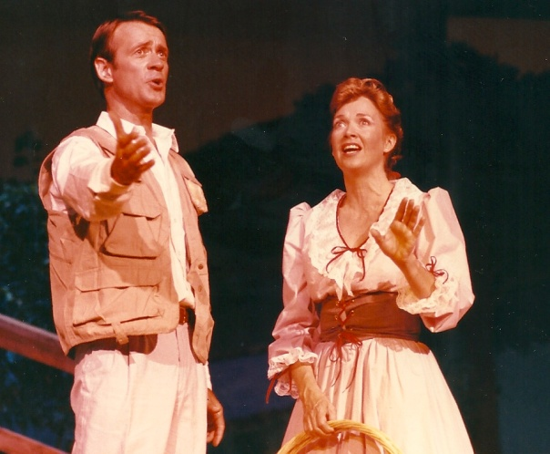 Janice and her husband Gary in Brigadoon in the late 1980's.