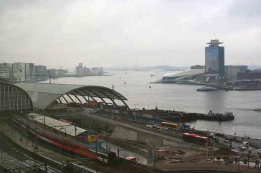 Amsterdam Centraal train yard from my hotel window.