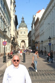 Me. St. Stephen's Basilica in background.