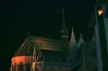 St. Matthias Church at night.