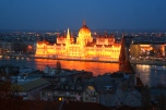 Parliament at night, from my hotel room window.