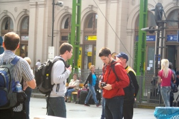 Two American tourists. They were also snapping people shots.