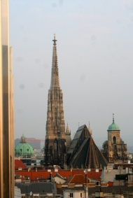 Stephensdom was to the west. This is from my balcony.