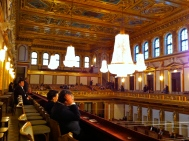 The interior of the Musikverein.