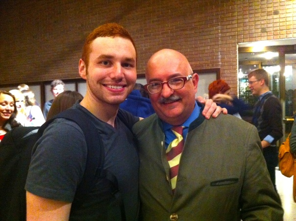 With my senior Jordan Parente after the show.