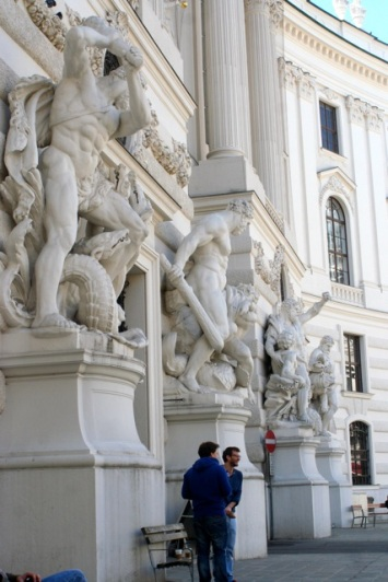 The main ceremonial gate of the Hofburg.