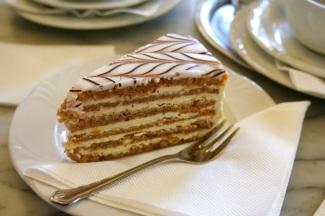 My luncheon dessert: Esterhazy torte.