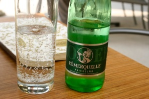 My usual drink this trip is mineral water.