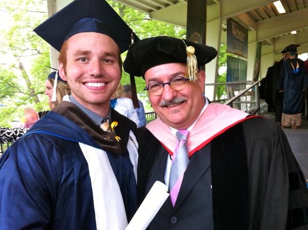 With Jordan Parente after he graduated.