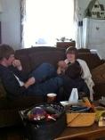 Joe annoys Anna. And the new boyfriend watches.