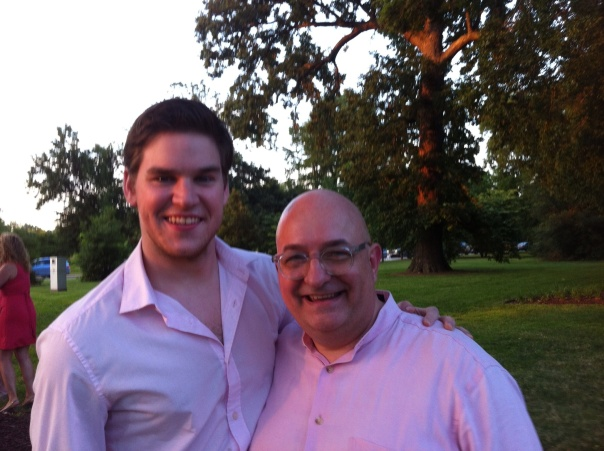 With Charlie Ingram after his Muny pre-show set last evening.