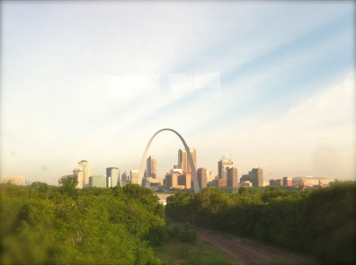 One of my favorite Arch views, only attainable from the train.