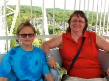 Luke and Beth on the Ferris wheel.