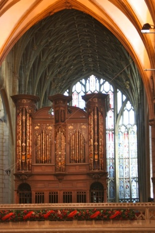 The organ, as viewed from my seat on Monday.