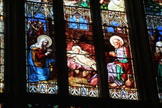 The central panel of the great West Window.
