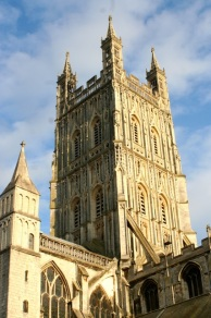 The tower at Gloucester Cathedral.