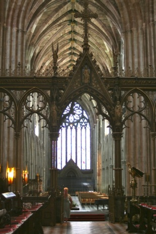 From the Quire, looking to the west.