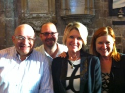 With Michael Messian, Jill Burleson, and Joy Conners at Gloucester.