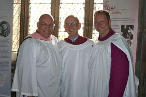 With John Schaefer and George Emblom, Worcester Cathedral.