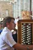 Our British organist, Peter Yardley-Jones.