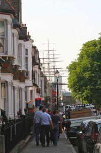 A Greenwich street scene.