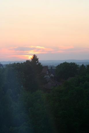 Sunset in York, July 2013.