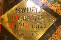 Jonathan Swift's burial place.