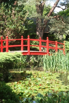 The Bridge of Life in the Japanese Garden.